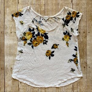 Lucky Brand Floral print short sleeve top